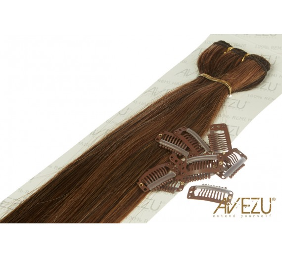 Lav selv clips on extensions - m/ 10 stk clips - 55 cm - 1b/22/27# Hotmix