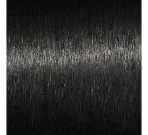 1b# Mørkebrun Trense hår hairextensions - Ægte hårextensions med trenser extensions til flettemetoden