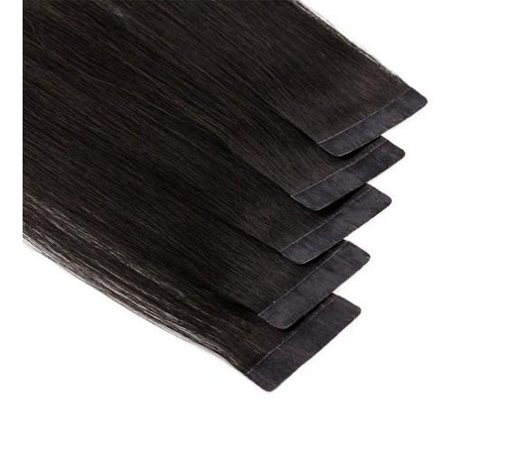 Mørke brun Tape on hair extensions - Hår extensions med tape