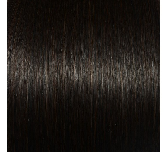 2# Alm brun Clips in extensions - Hair extensions ved Avezu med clips extensions