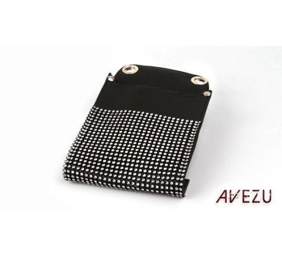 Frisør bæltetaske m/pallietter sort