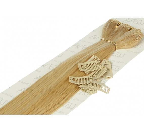 Lav selv clips on extensions - m/ 10 stk clips - 55 cm - 613/22# Scandicmix
