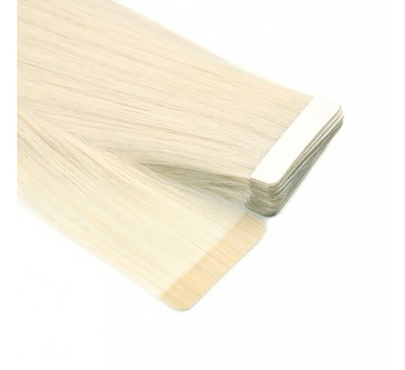 60# Platin blond Tape on hair extensions - Hår extensions med Tape