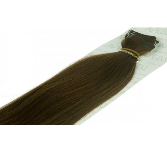 Tape on hair extensions - 60 gram pr. pakke 6# Medium brun