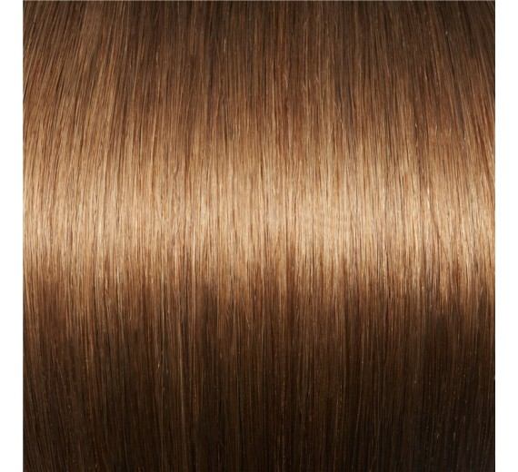 Clips in extensions 8# Lys brun - Hair extensions ved Avezu med clips extensions