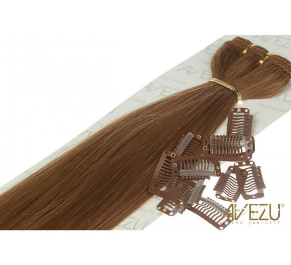 Lav selv clips on extensions - m/ 10 stk clips - 55 cm - Vælg farver