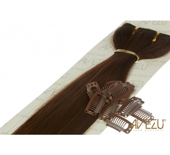 4# Lav selv clips on hair luksus hairextensions - clip ins hårextensions