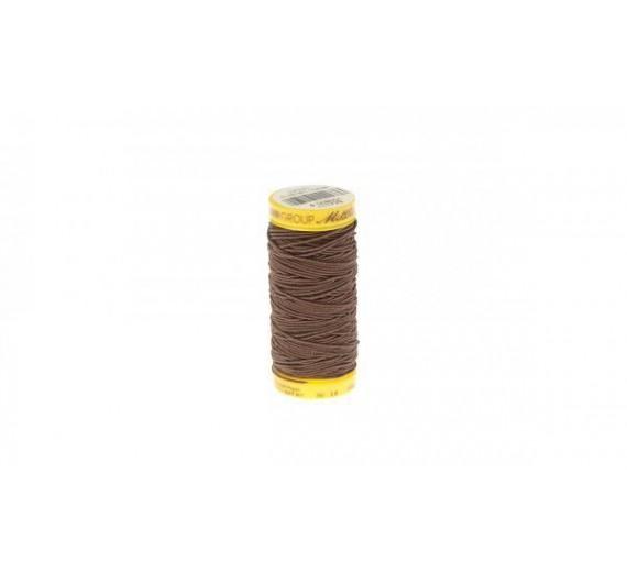 Elastik rulle til flettemetoden hairextensions - sytråd til påsætning af flettemetoden - Brun