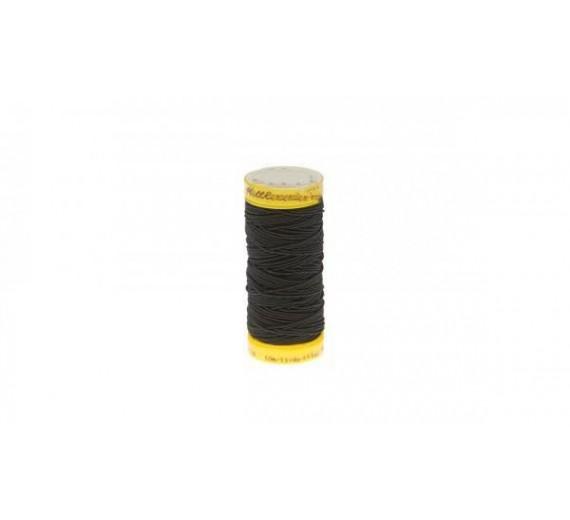 Elastik rulle til flettemetoden hairextensions - sytråd til påsætning af flettemetoden - Sort