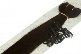 Lav selv clips on extensions - m/ 10 stk clips - 55 cm - 1B# Mørkebrun