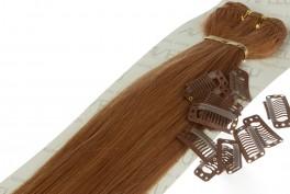 Lav selv clips on extensions - m/ 10 stk clips - 55 cm - 27# Caramel