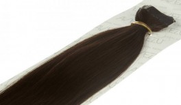 Tape on hair extensions - 60 gram pr. pakke 2# Alm brun