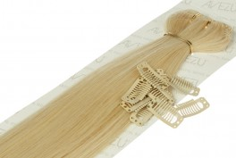 Lav selv clips on extensions - m/ 10 stk clips - 55 cm - 60# Divine light