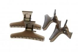 Inddelings-klemme - hair clips 4 stk. Sort