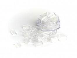 100 stk. Refill keratin bondings til hot fusion extensions - Hvid