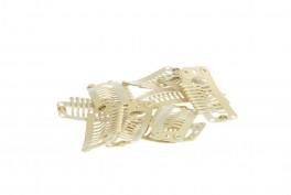 Clips til hår extensions - 10 stk løse clips - m/silikoneydre - Blond