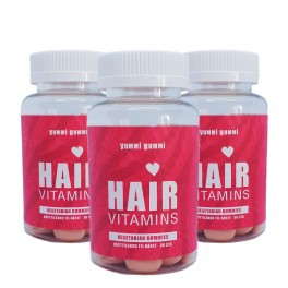 Yummi Gummi Hair Vitamins 3x 60 pcs - Hår vitaminer