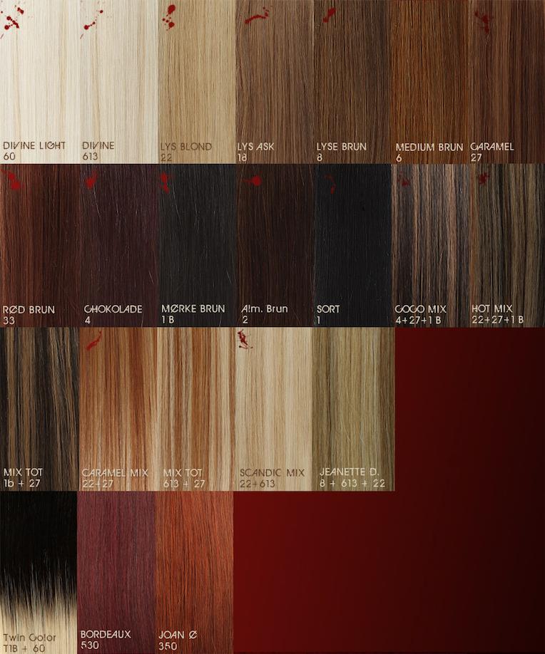 farvekort hår